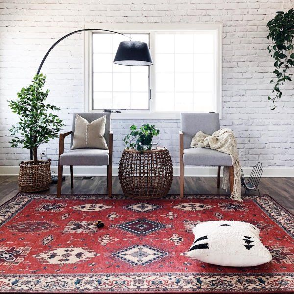 Ademi Paprika Red Rug Washable Rug Ruggable In 2020 Red Rug Living Room Red Rugs Ruggable #red #rug #living #room #ideas