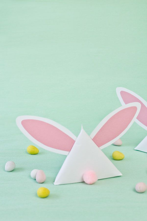 DIY Easter Bunny Treat Pouches from The Sweetest Occasion