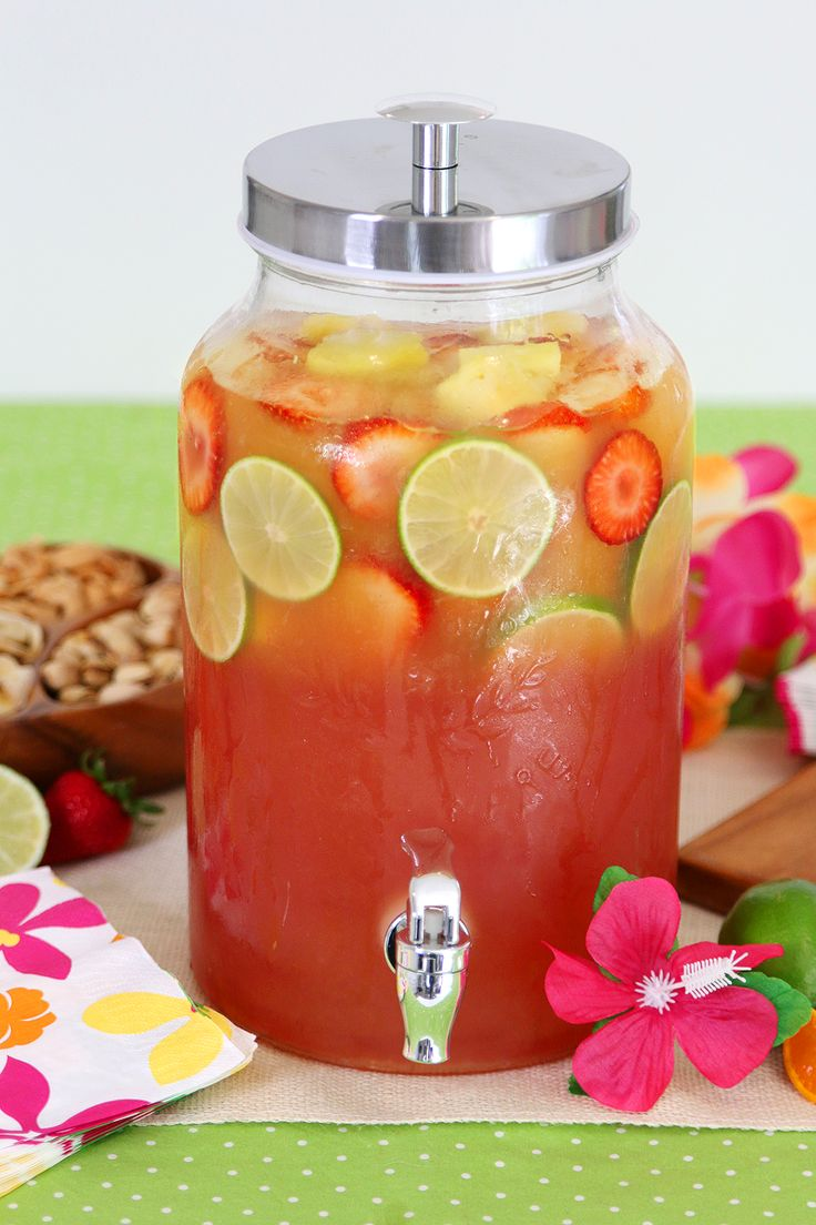 Luau party pineapple party punch recipe!