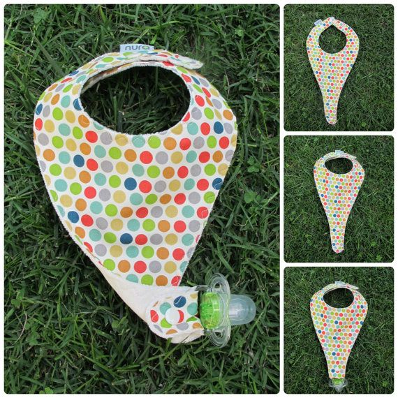 Organic Bib Pacifier Holder Just For Fun From Nura