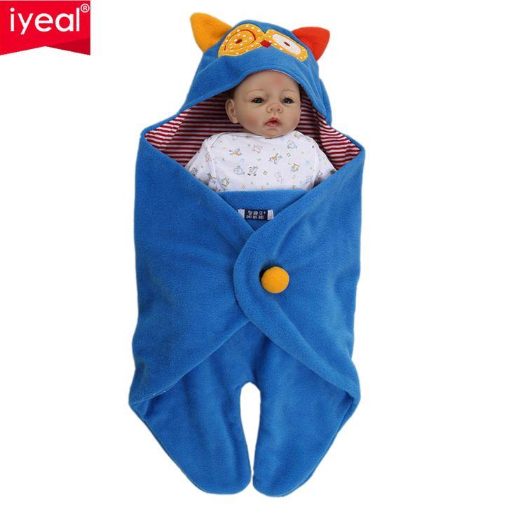 Recién nacido Swaddle Wrap Manta Saco de dormir Fleece Animal producto del bebé niños niñas ropa de Cama de Saco de Dormir Para Asiento de Coche Cochecito 0-18 M