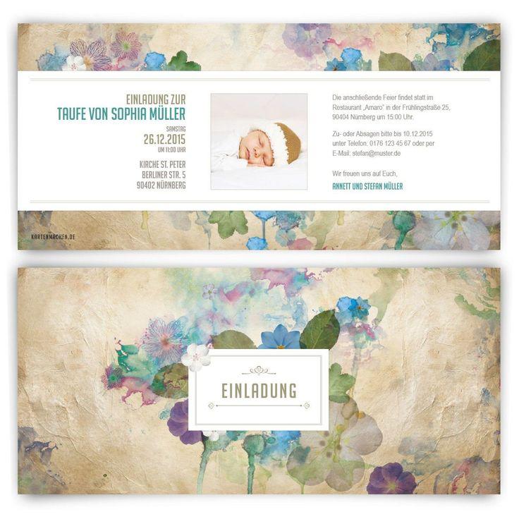 Taufe Einladungskarten Individuell Bedruckt Mit Foto Und Text!