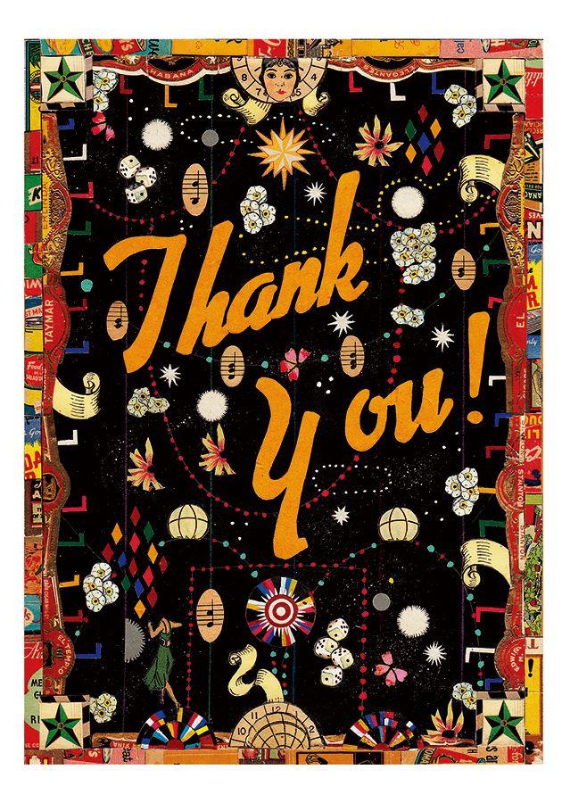 Tony Fitzpatrick: Thank You! Boxed Thank You Notes