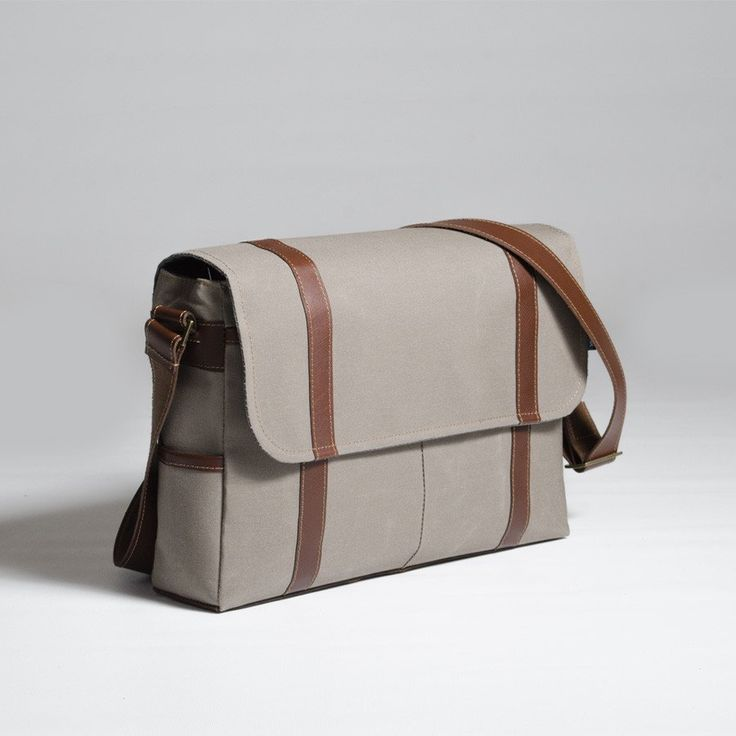 The Forge Messenger in taupe by Mother Co. Made in Canada  - $149