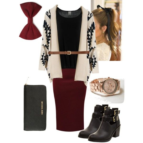 Pentecostal outfit for fall/winter #4 by jackieecruz on Polyvore featuring moda, Vero Moda, MICHAEL Michael Kors, American Eagle Outfitters, Forever 21 and H&M