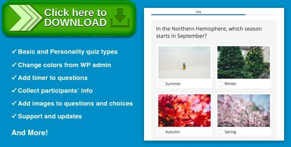 [ThemeForest]Free nulled download Quizmaster - Viral Quiz Maker for WordPress from http://zippyfile.download/f.php?id=52100 Tags: ecommerce, game, questionnaire, questions, quiz, quizzes, share, social media, social networks, test, tests, wordpress plugin, wordpress quiz, wordpress test, wp quiz