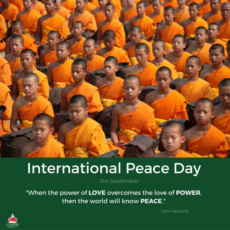 """""""When the Power of LOVE overcomes the love of POWER, then the world will know PEACE."""" - by Jimi Hendrix.  Happy #InternationalPeaceDay"""
