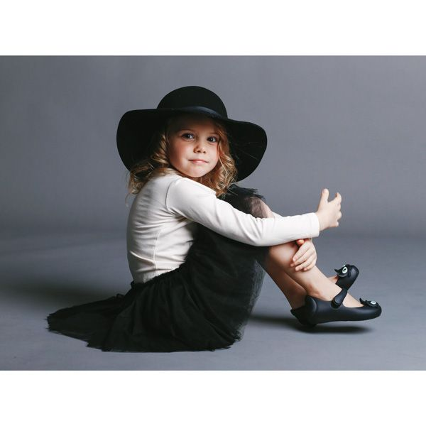 Kyra wears new season RYK Amelie Circus dress, Floppy hat from Featherdrum and Mini Melissa Ultragirl Cat shoes. Love!