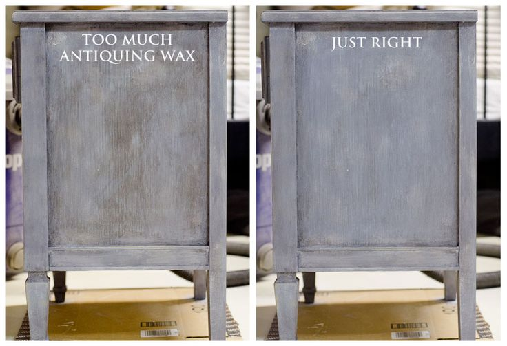 When Antiquing Goes Wrong! Quick fix with regular (clear) furniture wax