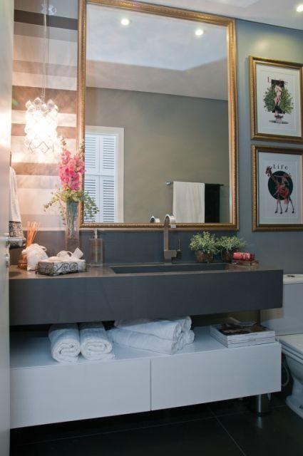 lavabo decorado - pedra silestone