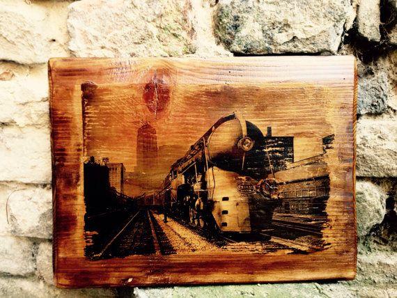 20th Century Limited Wall Decor Home Decor  Vintage Wooden Picture Railroad Art  https://www.etsy.com/shop/BlackArielDesign?ref=hdr_shop_menu