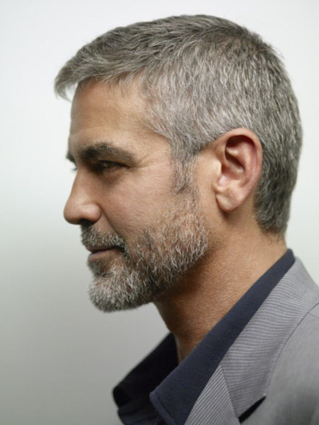 gray hair styles photos george clooney beard style george clooney 4393