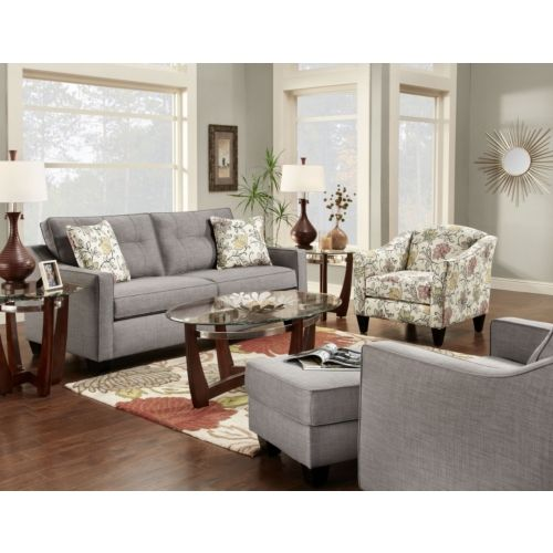Dallas sofa and accent chair set at hom furniture house for Contemporary lifestyle furniture dallas