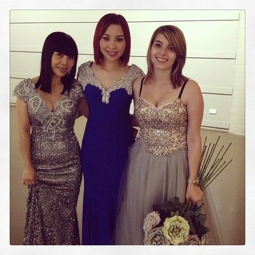 3 of our gorgeous models: Ti, Lily & Karisa with gorgeous gowns from Windsor & Lux & Bhrasi. Parades are on at 11am & 1pm tom...