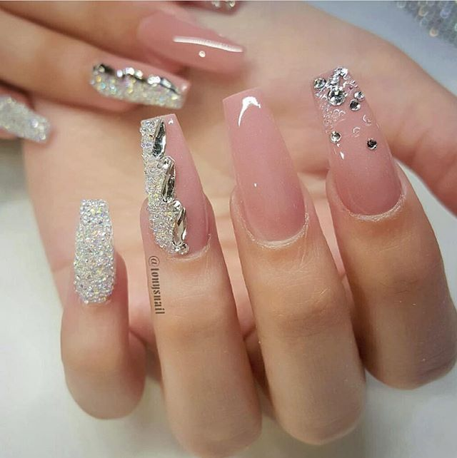 100 Beautiful Wedding Nail Art Ideas For Your Big Day Bride Nails Nail Art Wedding Wedding Nail Art Design
