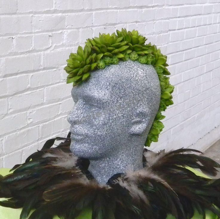 Tutorial do e-book: Faux Succulent Mannequin Head Display   – Mannequin