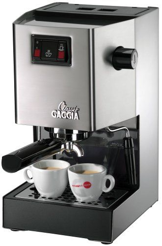 Gaggia 14101 Classic Espresso Machine, Brushed Stainless Steel Gaggia under $1,000.00  http://www.amazon.com/gp/product/B0001KOA4Q/ref=as_li_tl?ie=UTF8&camp=1789&creative=390957&creativeASIN=B0001KOA4Q&linkCode=as2&tag=tokosiragmail-20