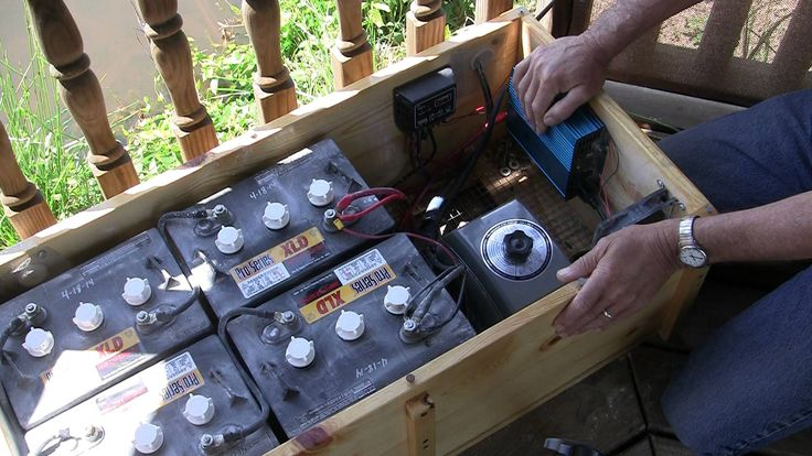 Pond water Aeration How To build a solar battery box