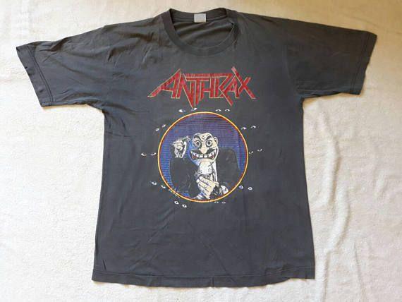 Vtg 80s Guardian Concert Muscle T-Shirt Black M/L Christian Heavy Metal Rock Band NGe5F