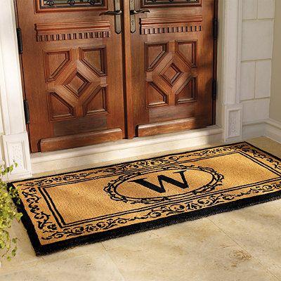 Hudson Monogrammed Door Mat For The Home Decor Pinterest