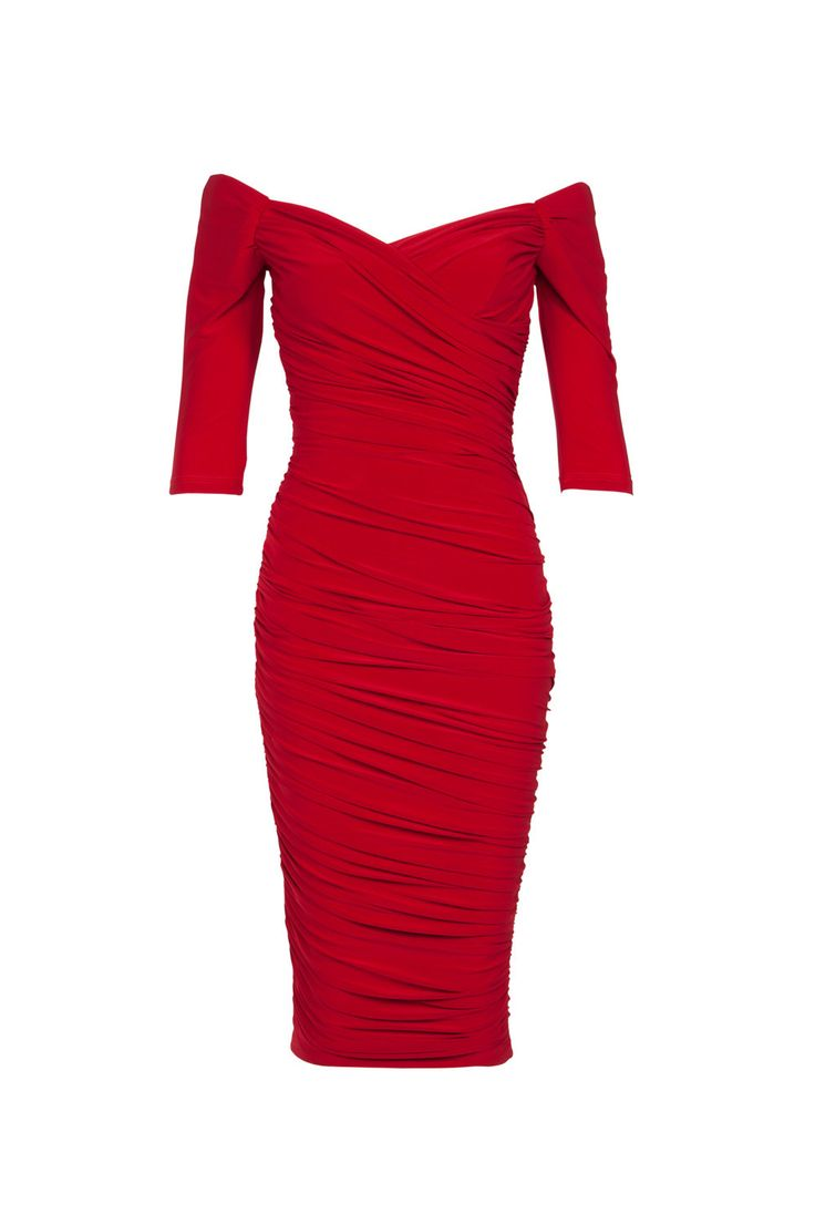 Final Sale - Laura Byrnes California Monica Dress in Red