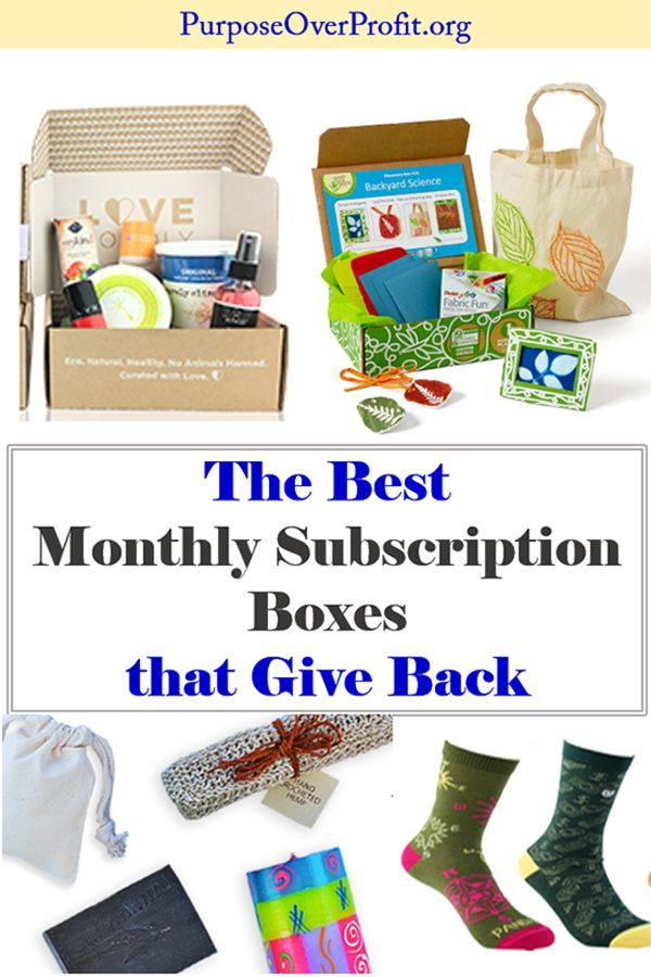Best Monthly Subscription Boxes that Give Back