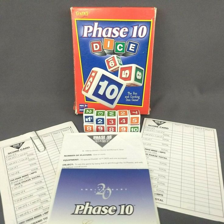 Details about phase 10 dice game fundex 2001 complete