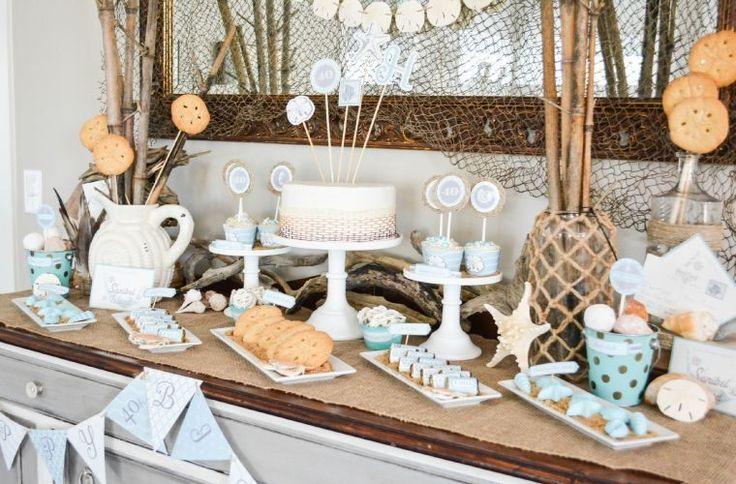 décoration de table d'anniversaire : thème plage pour été