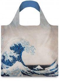 LOQI / museum|Hokusai: Wielka fala. Trwała siatka na zakupy