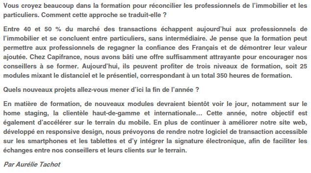 Interview de Jacques Daboudet, Président de CAPIFRANCE   #immobilier