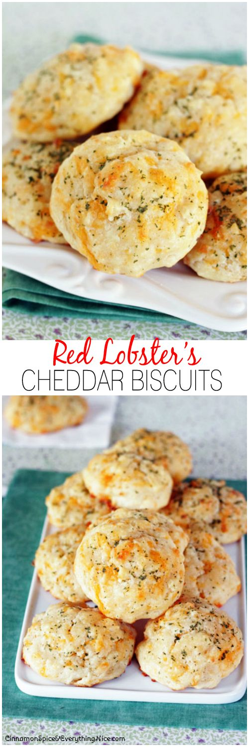 Homemade cheddar bay biscuits just like the ones at Red Lobster! Easy, no-fuss drop biscuits anyone can make!!