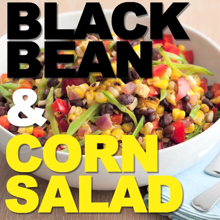 Guy whips up a hearty Black Bean and Corn Salad with summer veggies, black beans and more!