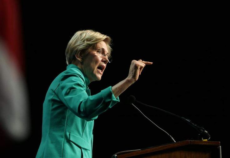 06/03/2017 Worcester Ma- Massachusetts U.S. Senator Elizabeth Warren (cq) speaking at he Massachusetts Democratic Convention. Globe Staff\Photograph Jonathan Wiggs Reporter:Topic