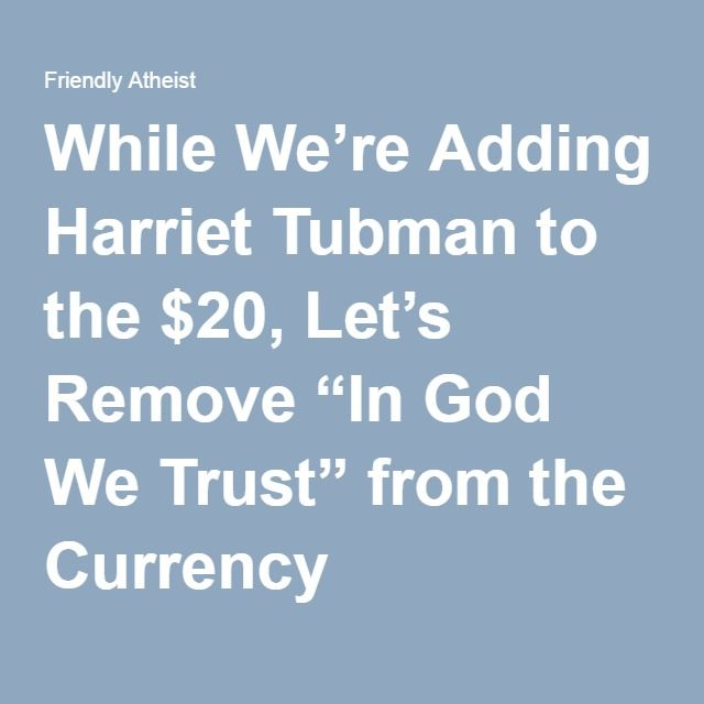 While Weu0027re Adding Harriet Tubman to the $20, Letu0027s Remove u201cIn God - vet tech job description