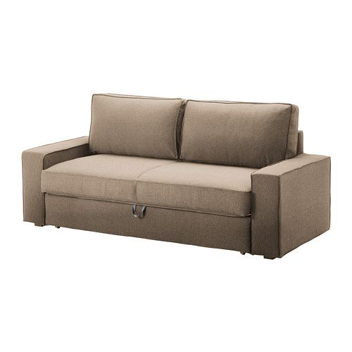IKEA - VILASUND, Three-seat sofa-bed cover, Dansbo beige,  , , The cover is easy to keep clean as it is removable and can be machine washed.Hardwearing, cotton and polyester cover with texture and a soft feel.