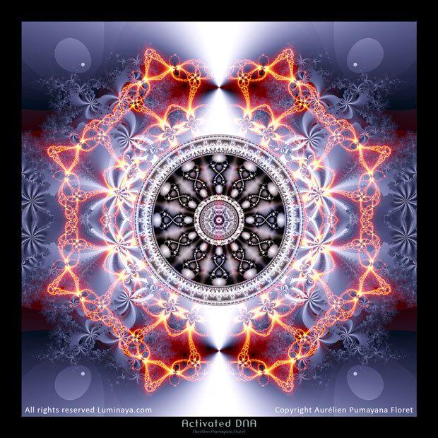 Mandala activé ADN Art spirituel Psy Art original par Pumayana