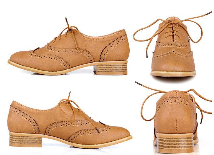 Zapatos Oxford vintage para mujer