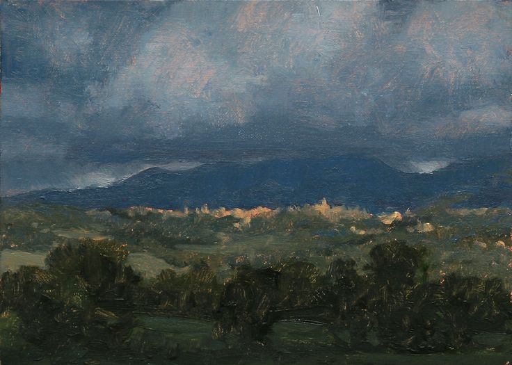"""Toscana Landscape Oil on linen/panel,2013, 5x7"""" http://myartspage.blogspot.com/"""