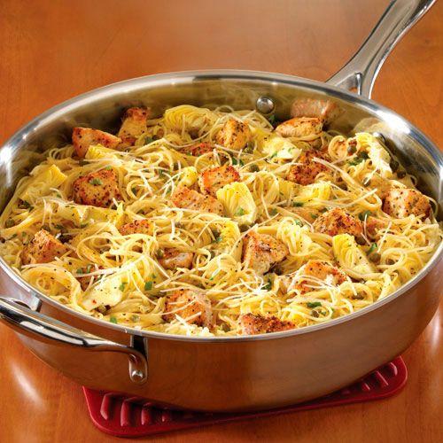 Chicken+Piccata+Pasta+-+The+Pampered+Chef®