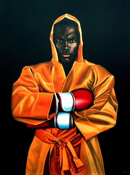 'Remy Bonjasky painting' by Paul Meijering on artflakes.com as poster or art print $20.79
