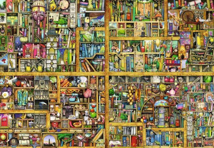 Puzzle RAVENSBURGER 18000 dílků - C.Thompson, Kouzelná knihovna