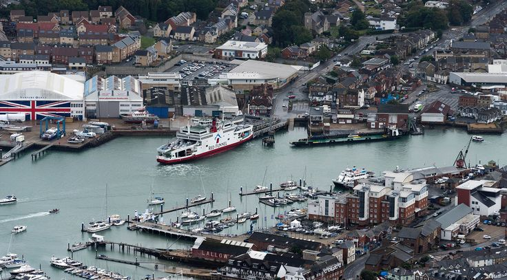 Red Funnel Ferries 'Red Falcon' - Isle of Wight aerial