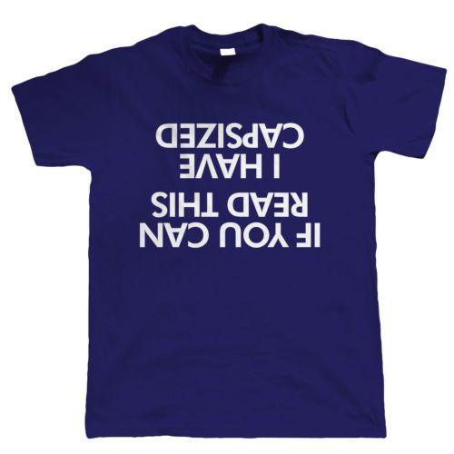Capsized Funny Mens Sailing T Shirt