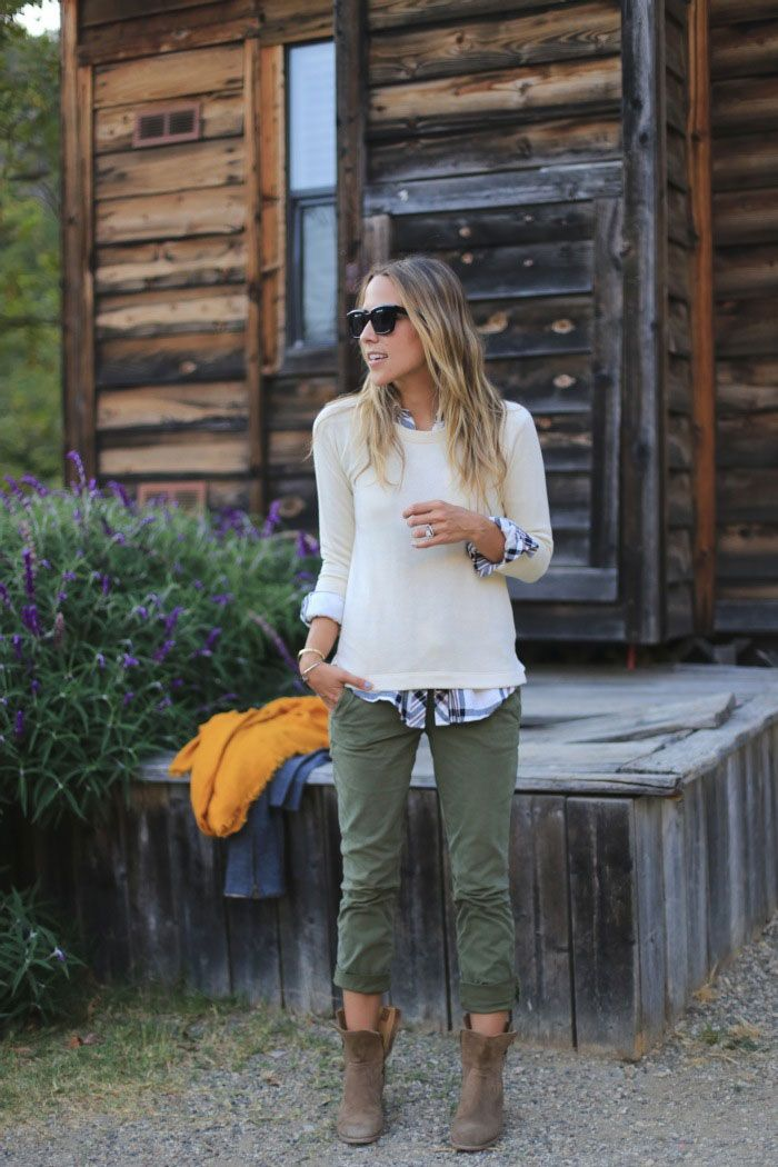 :: olive skinnies, booties, sweater ::
