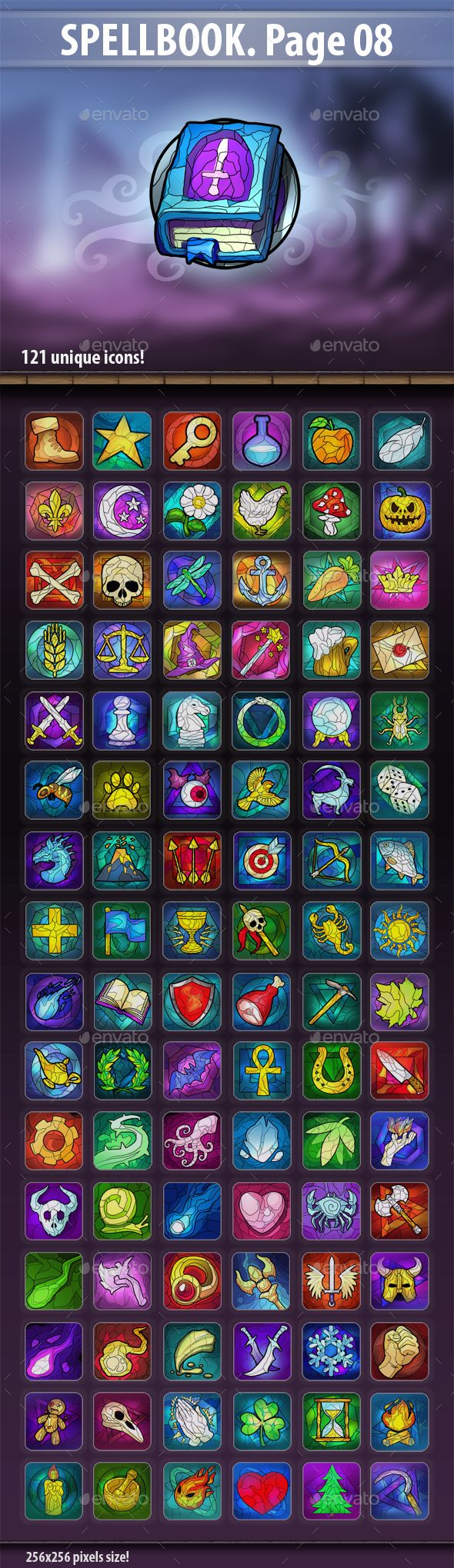 #SpellBook Page 08 - Miscellaneous #Game #Assets