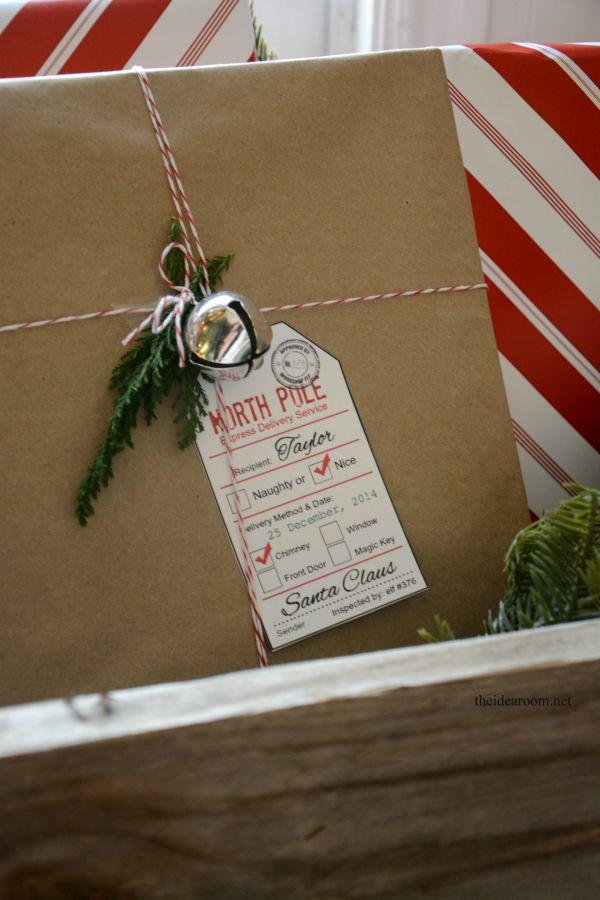 Santa Gift Tag printable