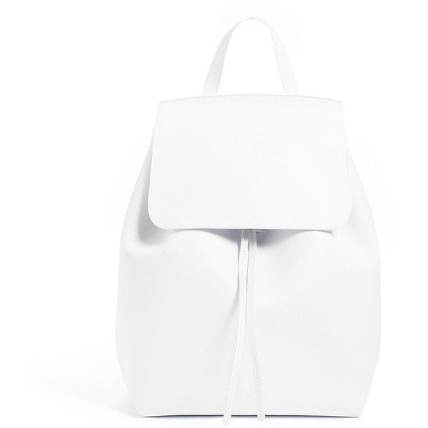 Calf Backpack ❤ liked on Polyvore featuring bags, backpacks, backpack bags, white patent leather bag, patent leather bags, rucksack bag and patent leather backpack