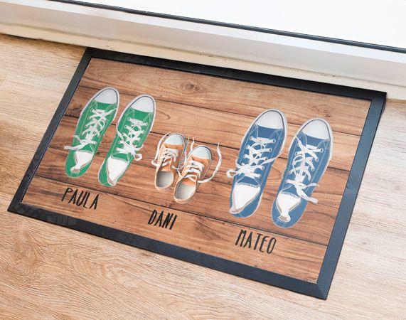 Felpudo personalizado zapatillas