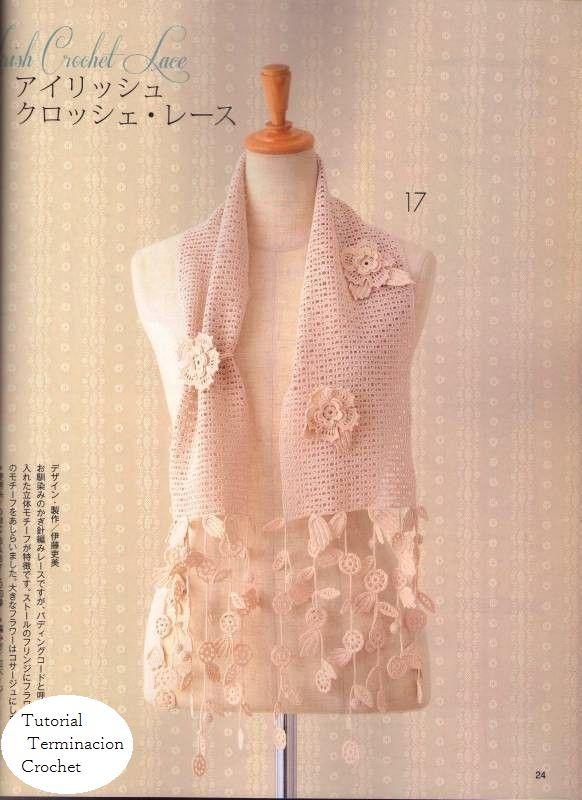 99 best bufandas crochet images on Pinterest | Bufanda cuello ...