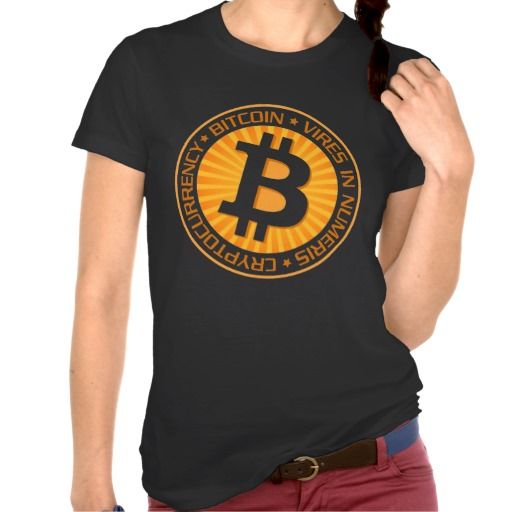 Bitcoin Crypto Currency Logo Tee Shirt. Bitcoin, you can be your own bank. High resolution Bitcoin logo design just for you. Spread the word of Bitcoin, Vires in Numeris, Strength in Number people's choice crypto currency technology.